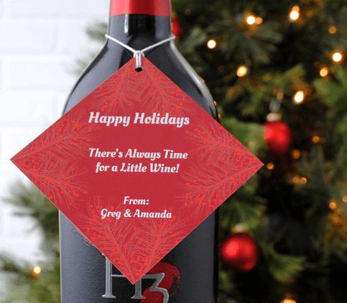holiday pine hang tag