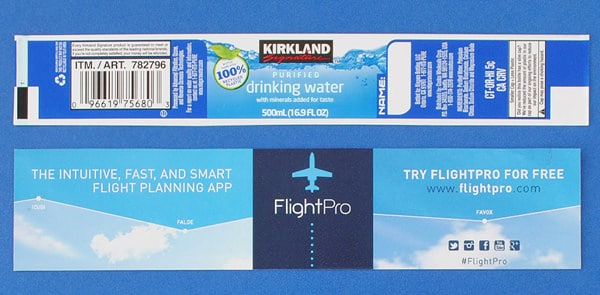 Custom Labels for Kirkland Signature Water Bottles - BottleYourBrand