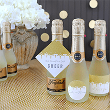 Photo Mini Champagne Bottle Labels