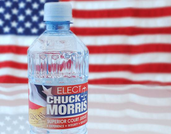 political water bottle labels