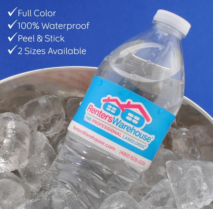 Waterproof Water Bottle Labels