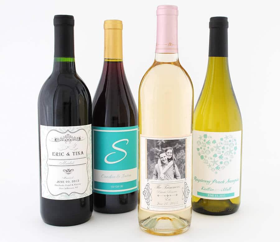 custom designed wedding wine labels