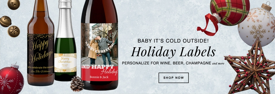 wine and beer labels for the 2017 holiday season