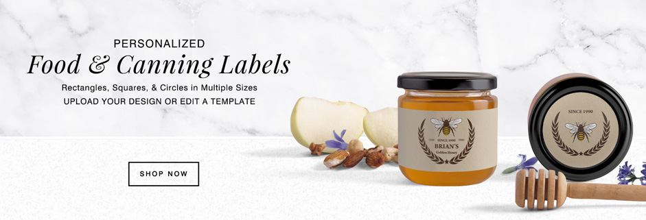 personalized food and canning labels