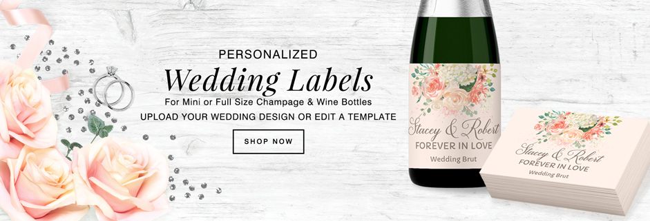 personalized wedding labels for the 2018 season