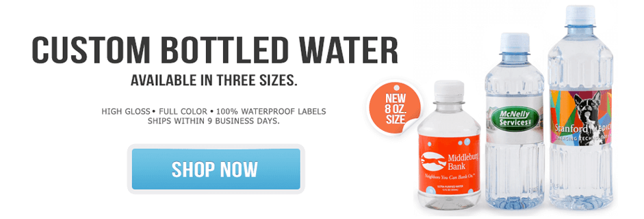 Custom Labeled Bottled Water by BottleYourBrand