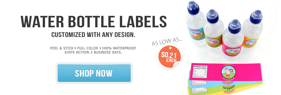Custom Water Bottle Labels by Bottle Your Brand